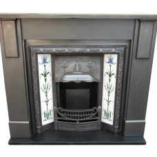 "SS073 - Antique Edwardian Slate Fire Surround (45.75""H x 60""MW)"
