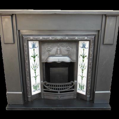 "SS073 - Antique Edwardian Slate Fire Surround (45.75""H x 60""MW)"