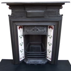 "COMBI154 - Antique Art Nouveau Combination Fireplace (47""H x 45.75""W)"