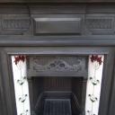 """COMBI154 - Antique Art Nouveau Combination Fireplace (47""""H x 45.75""""W)"""