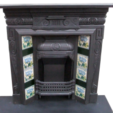 "COMBI205 - Highly Detailed Cast Iron Combination Fireplace (43.75""H x 42.25""W)"
