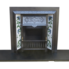 INS208 - Victorian Cast Iron Fireplace Insert Antique (38″H x 38″W)