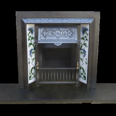 INS208 - Victorian Cast Iron Fireplace Insert Antique (38″H x 38″W)