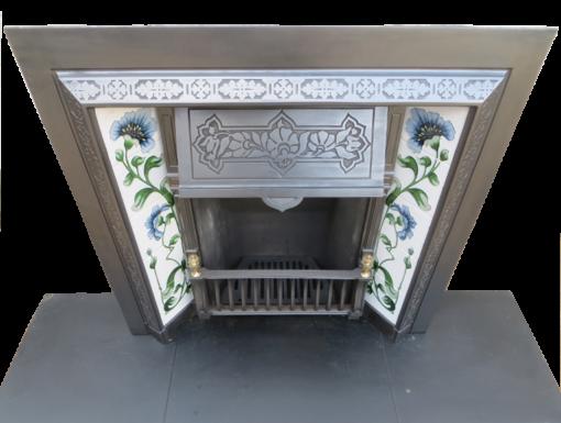 Victorian Cast Iron Fireplace Insert Antique