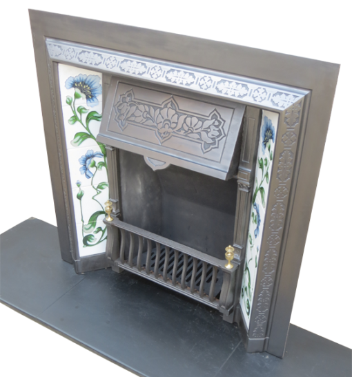 Cast Iron Fireplace Insert Antique
