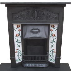 "COMBI216 - Art Nouveau Edwardian Combination Fireplace (46.5""H x 40.5""W)"