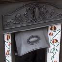 """COMBI216 - Art Nouveau Edwardian Combination Fireplace (46.5""""H x 40.5""""W)"""