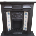 "COMBI219 - Antique Combination Edwardian Fireplace (48.75""H x 47.5""W)"