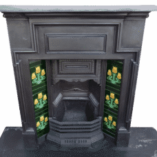 "COMBI086 - Victorian Cast Iron Combination Fireplace (47.5""H x 40.5""W)"
