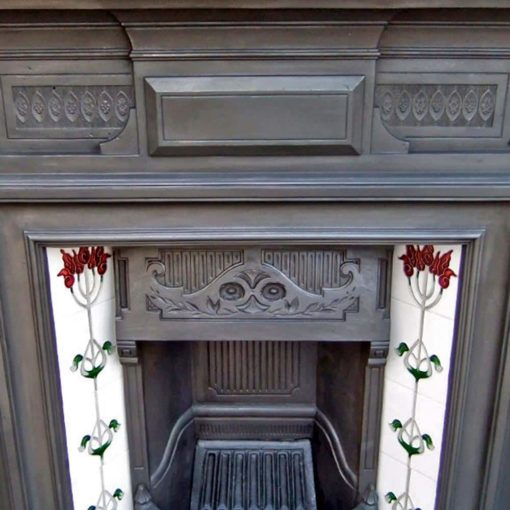 Antique Art Nouveau Combination Fireplace