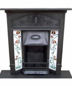 Art Nouveau Edwardian Combination Fireplace