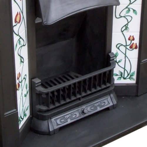Art Nouveau Edwardian Combination Fireplace
