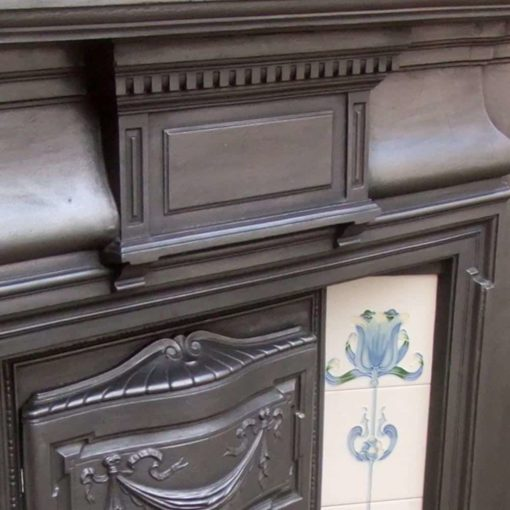 Antique Combination Edwardian Fireplace