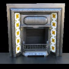 INS055 - Victorian Cast Iron Original Fireplace Insert (38″H x 38″W)