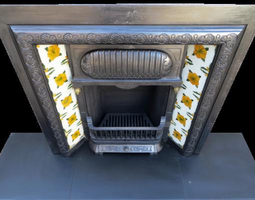 Victorian Cast Iron Original Fireplace Insert