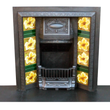 INS061B - Victorian Cast Iron Antique Fireplace Insert (34″H x 36″W)