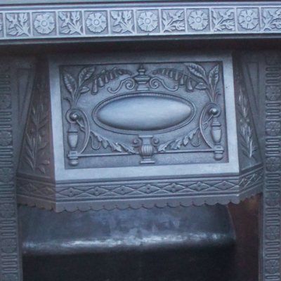 Victorian Cast Iron Antique Fireplace Insert