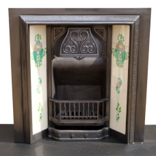INS112 - Cast Iron Antique Victorian Fireplace Insert