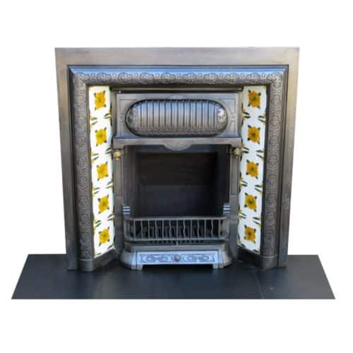 Victorian Cast Iron Original Fireplace Insert