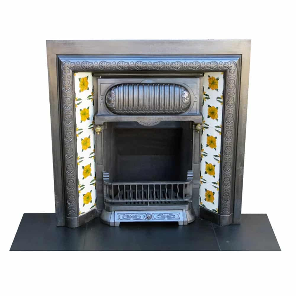 Victorian Cast Iron Original Fireplace Insert Victorian