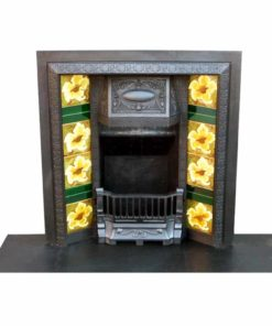 Victorian Cast Iron Antique Fireplace Insert