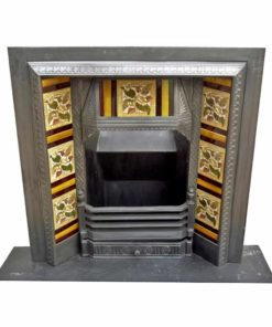 Victorian Cast Iron Fireplace Antique Insert