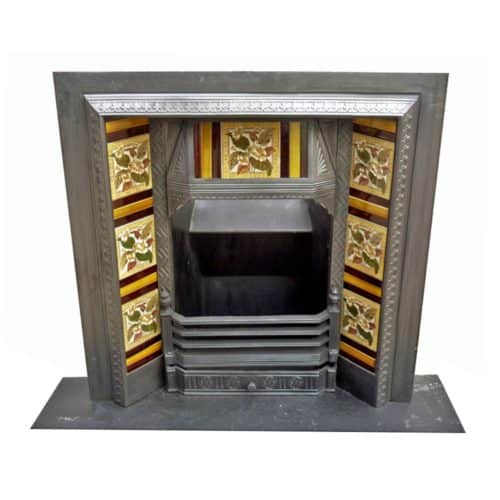 Victorian Cast Iron Fireplace Antique Insert
