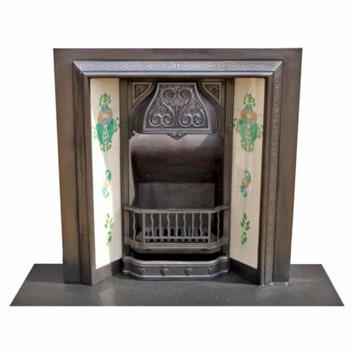 Cast Iron Antique Victorian Fireplace Insert