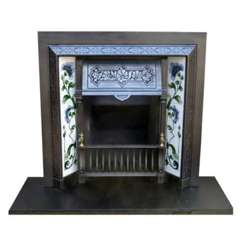 Victorian Cast Iron Fireplace Insert Antique