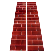 OT177 - Original Victorian Red Brick Fireplace Tiles