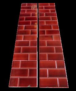 Original Victorian Red Brick Fireplace Tiles