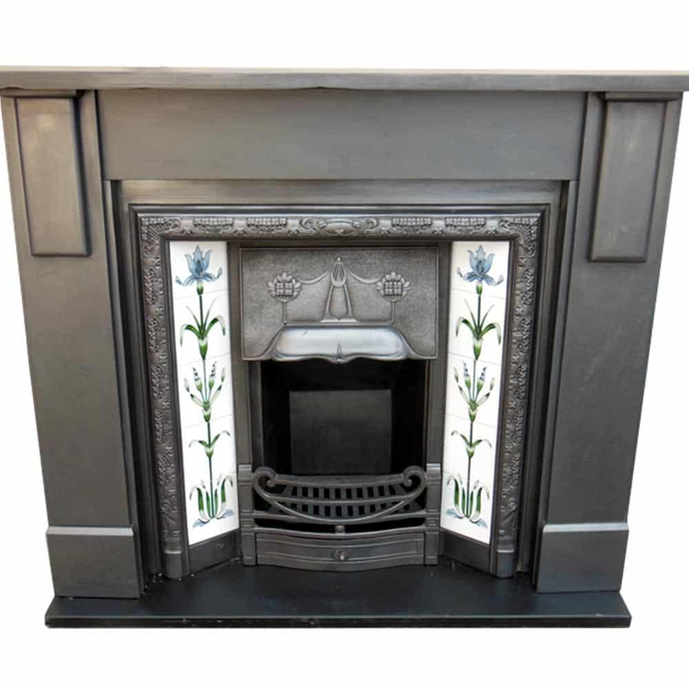 Antique Edwardian Slate Fire Surround Victorian Fireplace Store