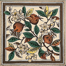 RT001 - Stovax Apple Blossom Fireplace Tile (4063)