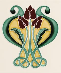 Stovax Belleflower Fireplace Tile