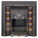 RT003 - Stovax Blue Peonies Tubelined Fireplace Tile (4926)