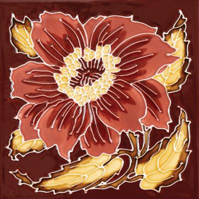 RT005 - Stovax Chrysanthemum Fireplace Tile (4927)