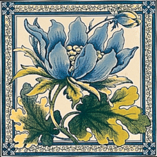 RT006 - Stovax Peony Fireplace Tile (4073)