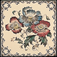 RT007 - Stovax Poppies Fireplace Tile (4060)