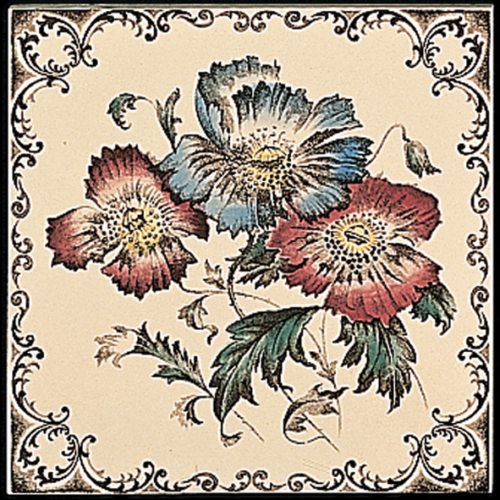 Stovax Poppies Fireplace Tile