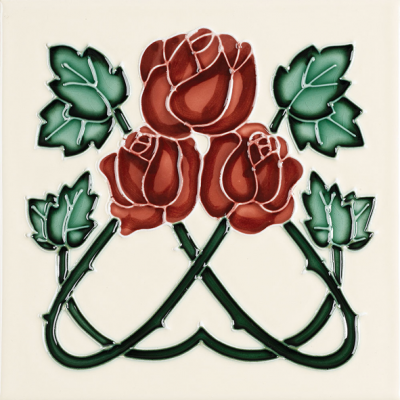 Stovax Red Roses Fireplace Tile