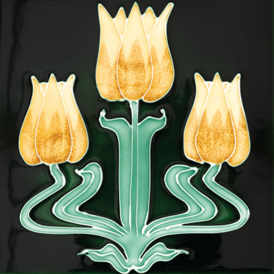 Stovax Tulips Fireplace Tile