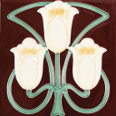 RT012 - Stovax Yellow Foxglove Fireplace Tile (4928)