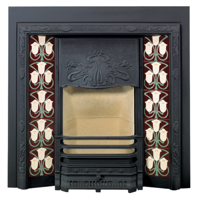 Stovax Yellow Foxglove Fireplace Tile