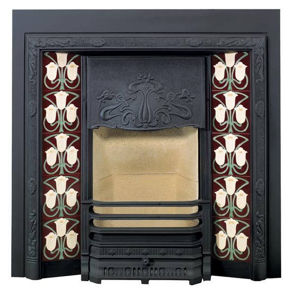 Stovax Yellow Foxglove Fireplace Tile 4928 Victorian