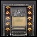 RT013 - Stovax Yellow Iris Fireplace Tile (4850)