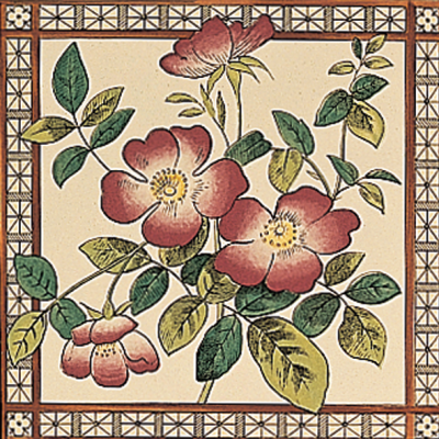 RT016 - Stovax Sweetbriar Fireplace Tile (4062)