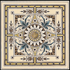 RT017 - Stovax Symmetrical Classical Pattern Tile (4272)