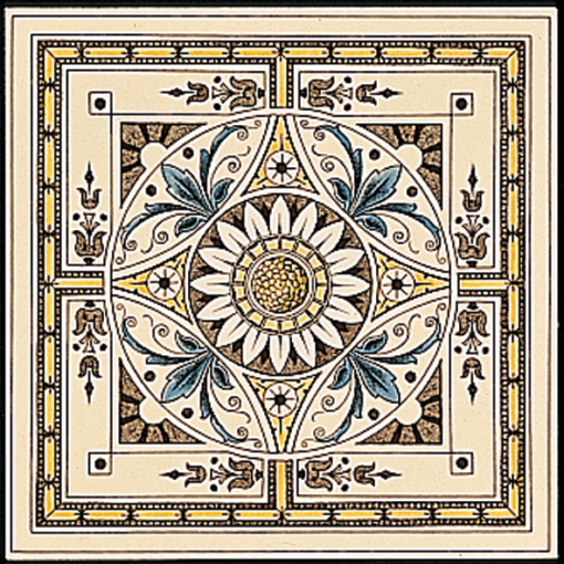 Stovax Symmetrical Classical Pattern Tile