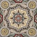 RT018 - Stovax Symmetrical Floral Pattern Tile (4061)