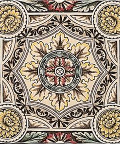 Stovax Symmetrical Floral Pattern Tile